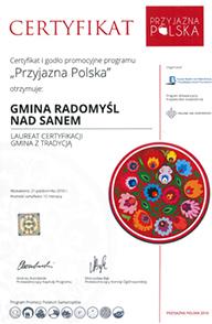 Certyfikat Przyjazna Polska